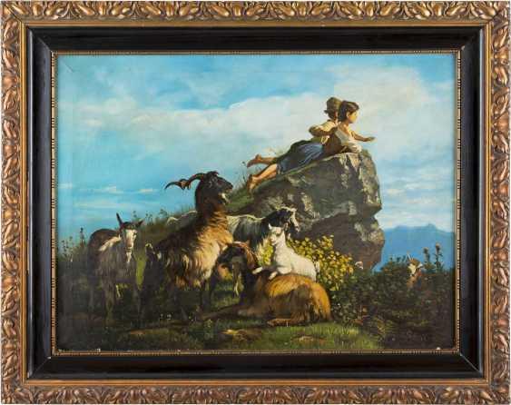 GIUSEPPE PALIZZI (ATTR.) 1812 Lanciano - 1888 Paris Ziegenherde und zwei Kinder in Betrachtung - photo 2