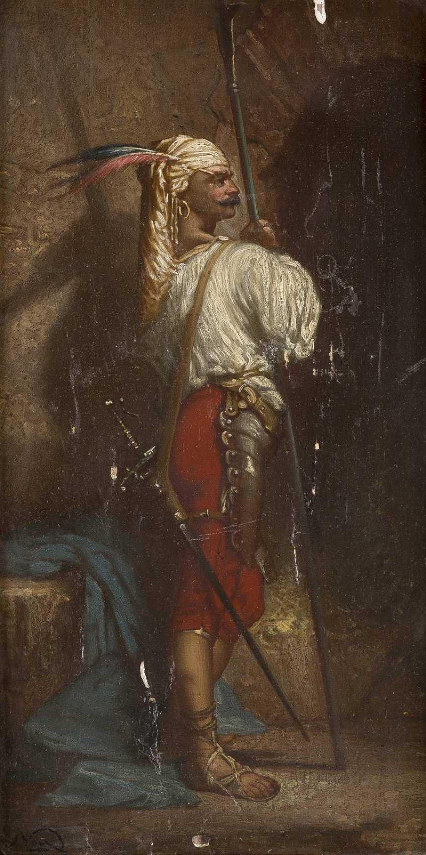 NAGY Tätig um 1900 Orientalisch anmutender Lanzenträger - photo 1