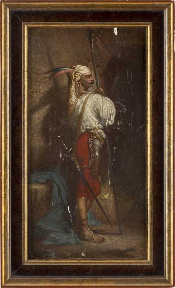 NAGY Tätig um 1900 Orientalisch anmutender Lanzenträger - photo 2