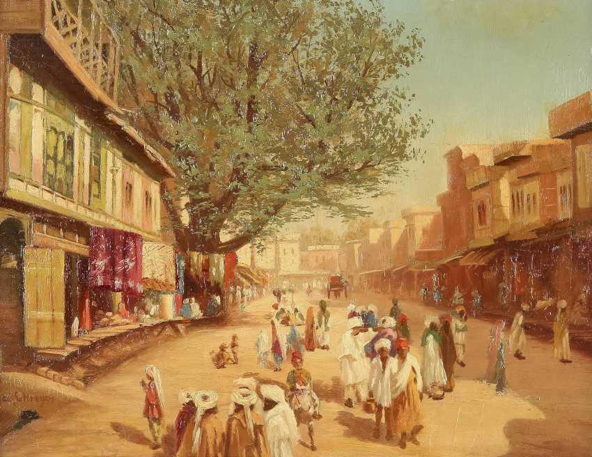 ADOLF SCHREYER (IN DER ART VON) 1828 Frankfurt am Main - 1899 Cronberg Belebte Straße einer orientalischen Stadt - photo 1