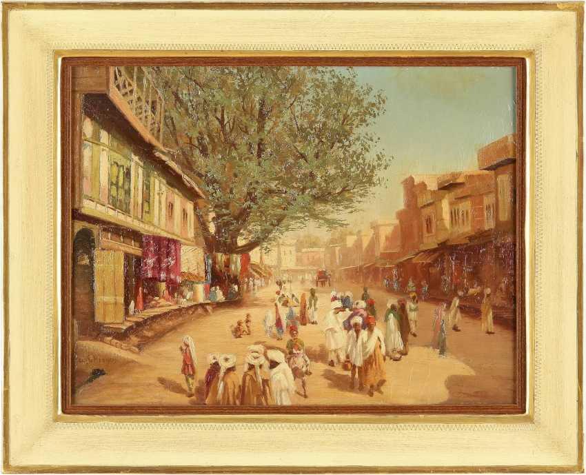 ADOLF SCHREYER (IN DER ART VON) 1828 Frankfurt am Main - 1899 Cronberg Belebte Straße einer orientalischen Stadt - photo 2