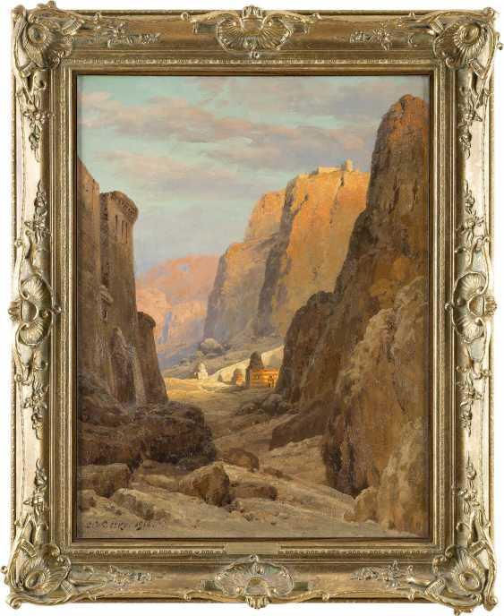 CARL WUTTKE 1849 Trebnitz (Schlesien) - 1927 München. Blick auf das Katharinenkloster am Fuße des Berges Sinai - photo 2