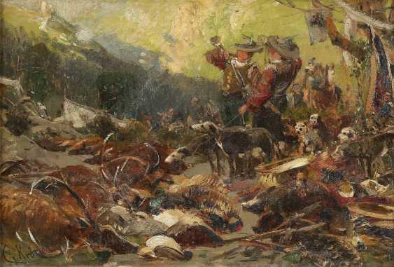 CHRISTIAN KRÖNER 1838 Rinteln - 1911 Düsseldorf Nach dem Jagen - photo 1