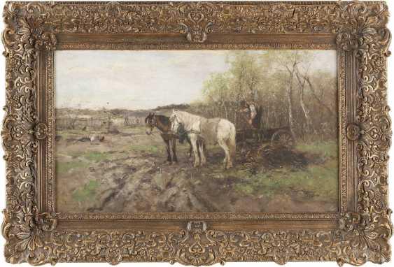ALFRED VON WIERUSZ-KOWALSKI (UMKREIS) 1849 Suwalki - 1915 München Bauer mit Pferdegespann bei der Feldarbeit - фото 2