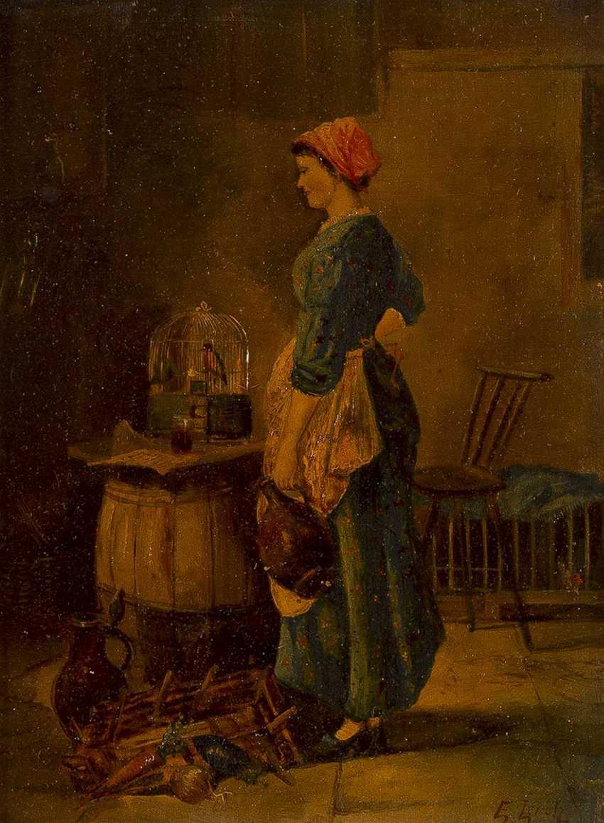 E. LERCH Tätig im 19. Jahrhundert 'Beim Liebling' - photo 1