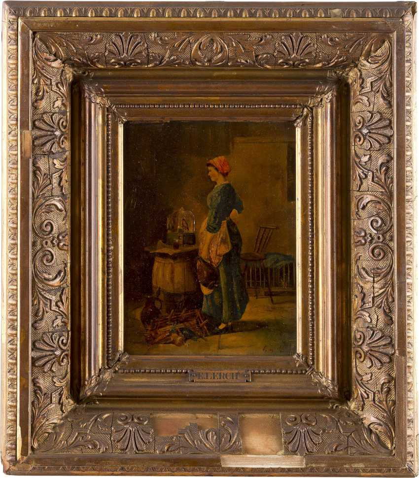 E. LERCH Tätig im 19. Jahrhundert 'Beim Liebling' - photo 2