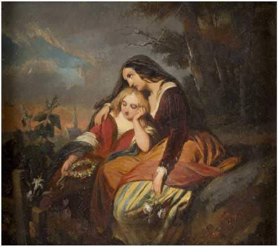 BERNARD PIETER WEISER 1822 Tournai - ? Antwerpen Bekümmerte Schwestern - photo 1