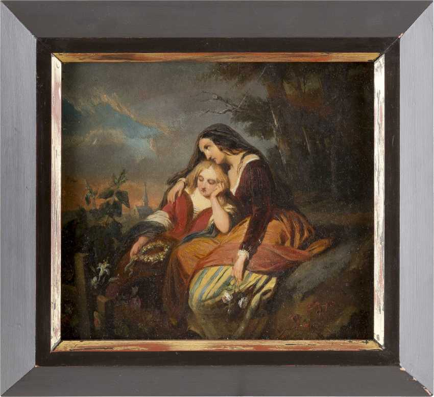 BERNARD PIETER WEISER 1822 Tournai - ? Antwerpen Bekümmerte Schwestern - photo 2