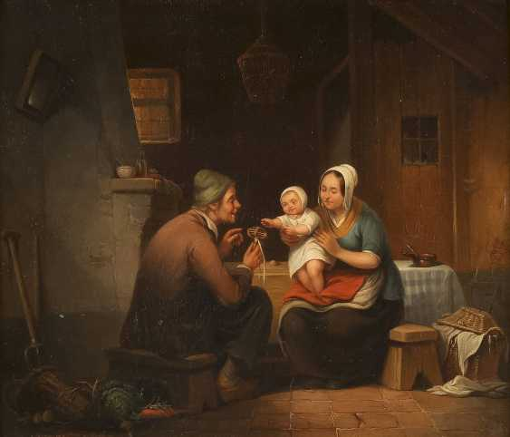 HENRI-JOSEPH-GOMMARUS CARPENTERO 1820 Antwerpen - 1874 Brüssel Familienglück - photo 1