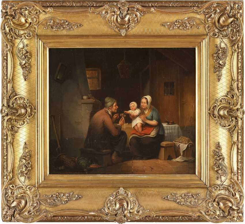 HENRI-JOSEPH-GOMMARUS CARPENTERO 1820 Antwerpen - 1874 Brüssel Familienglück - photo 2