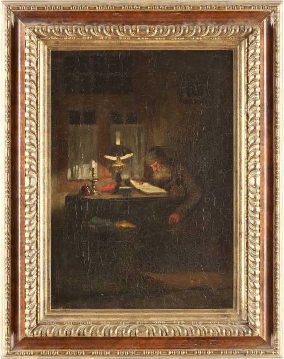JOHANNES WEILAND 1856 Vlaardingen - 1909 Den Haag Lesender in der Stube - photo 2