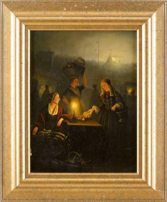 PETRUS VAN SCHENDEL (KOPIE NACH) 1806 Terheijden - 1870 Brüssel Erwerb von Obst und Gemüse auf dem Nachtmarkt - photo 2