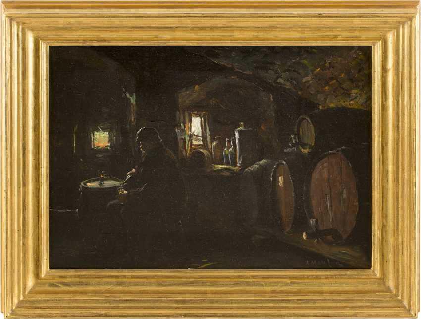 ANDERS OLSSON MONTAN 1845 Broddarp - 1917 Düsseldorf Im Weinkeller - photo 2