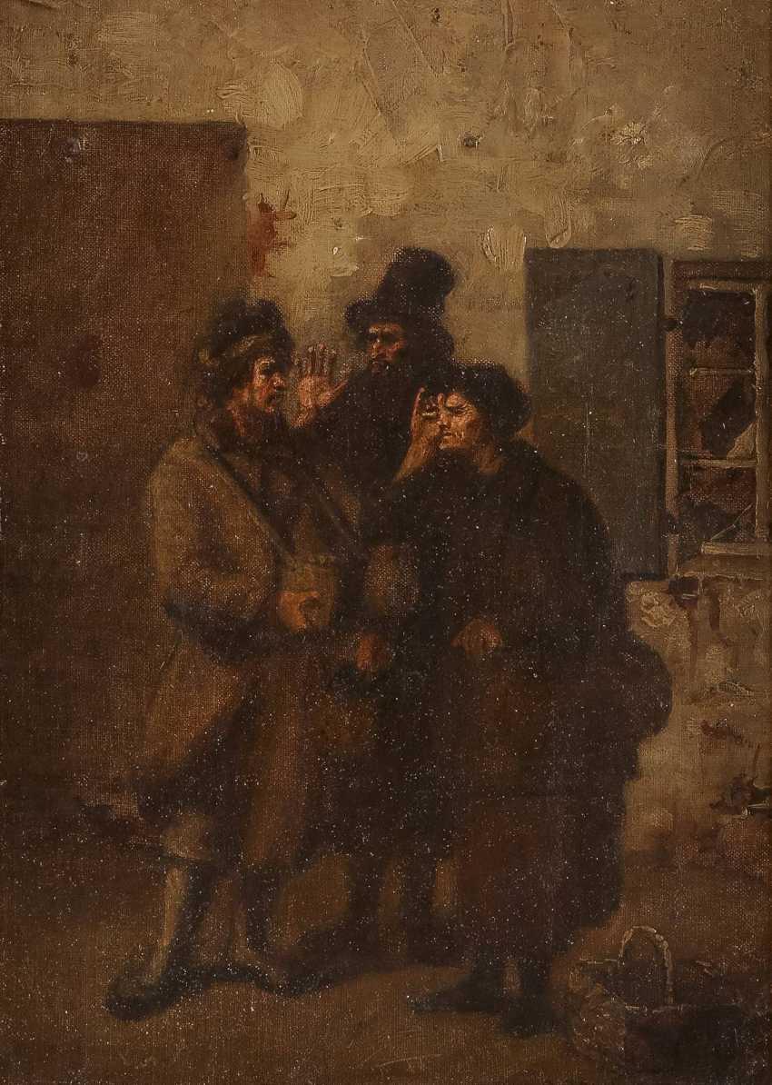 POLNISCHER GENREMALER Tätig 2. Hälfte 19. Jahrhundert Beim Feilschen - photo 1