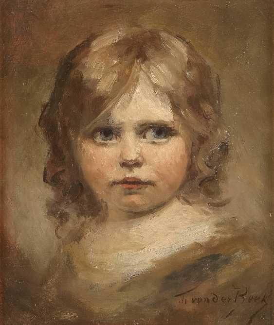 THEODOR VON DER BEEK 1838 Kaiserswerth - 1921 Düsseldorf Porträt eines kleinen Mädchens - photo 1