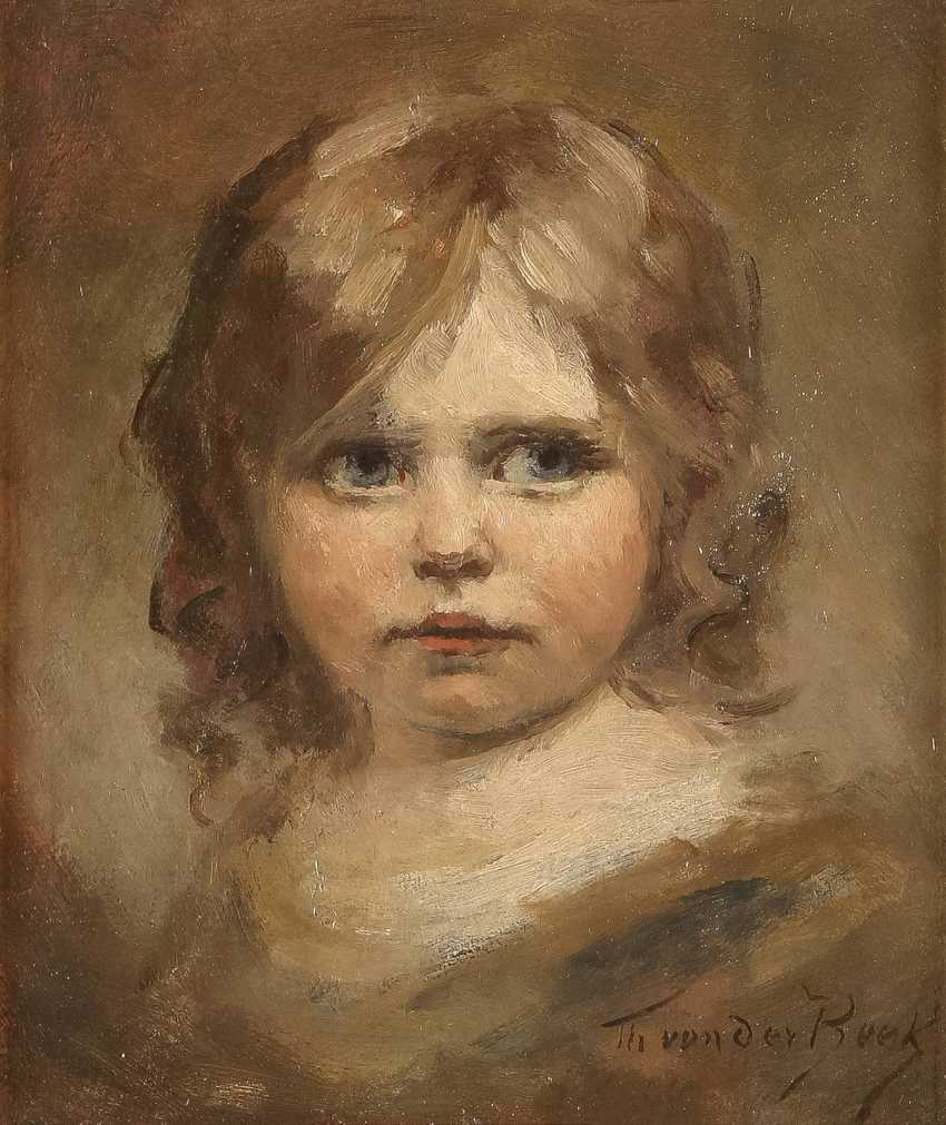 THEODOR VON DER BEEK 1838 Kaiserswerth - 1921 Düsseldorf Porträt eines kleinen Mädchens - Foto 1
