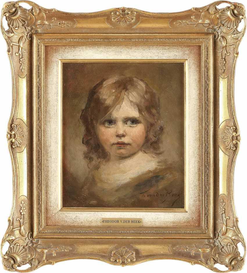 THEODOR VON DER BEEK 1838 Kaiserswerth - 1921 Düsseldorf Porträt eines kleinen Mädchens - Foto 2