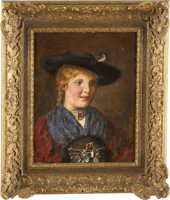 EMMA VON MÜLLER (EDLE VON SEEHOF) 1859-1925 PORTRÄT EINER JUNGEN FRAU IN TRACHT - photo 2