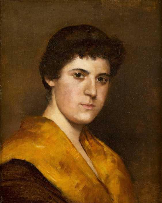 MONOGRAMMIST CD Tätig um 1900 Porträt einer jungen Frau - photo 1