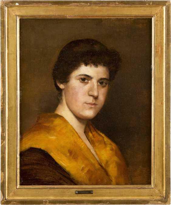 MONOGRAMMIST CD Tätig um 1900 Porträt einer jungen Frau - photo 2