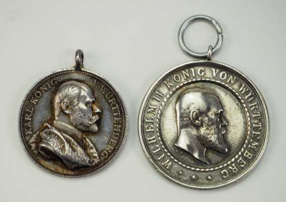 Württemberg: Lot of 2 medals. - photo 1