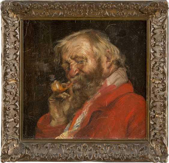 RUSSISCHER MEISTER Tätig um 1900 Porträt eines bärtigen Mannes mit Pfeife - photo 2