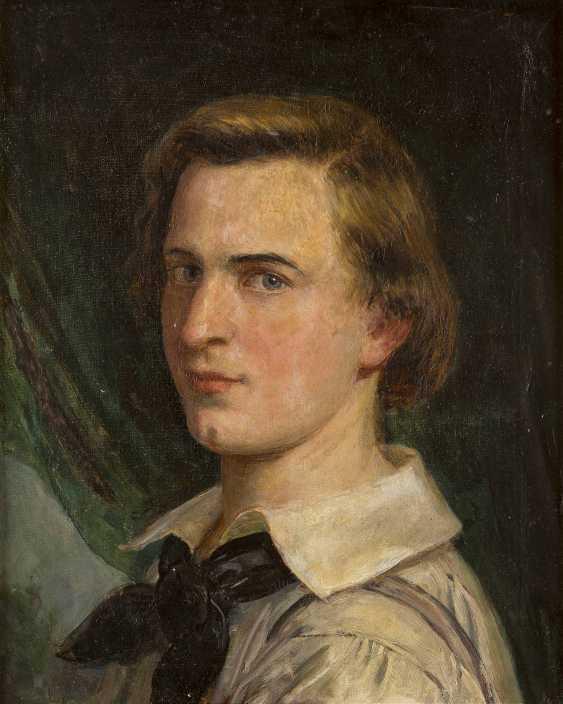 JULIUS KÖCKERT (ATTR.) 1827 Leipzig - 1918 München Porträt eines jungen Mannes (Selbstbildnis?) - photo 1