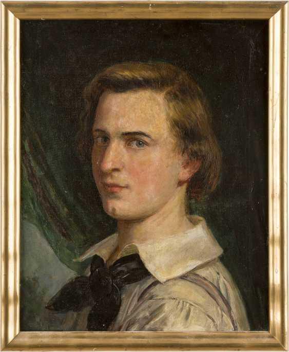JULIUS KÖCKERT (ATTR.) 1827 Leipzig - 1918 München Porträt eines jungen Mannes (Selbstbildnis?) - photo 2