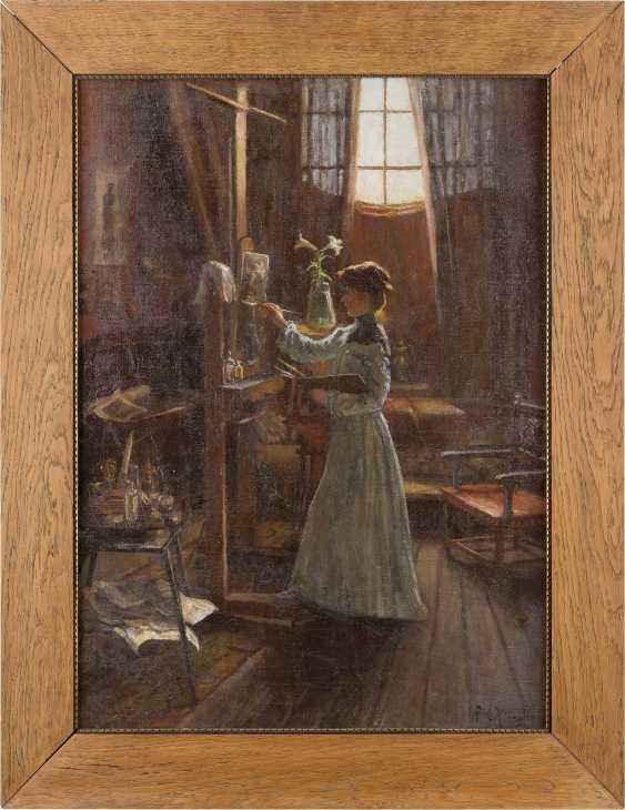 RICHARD KLINGEN 1873 Düsseldorf - 1924 ebenda Künstlerin im Atelier - photo 2