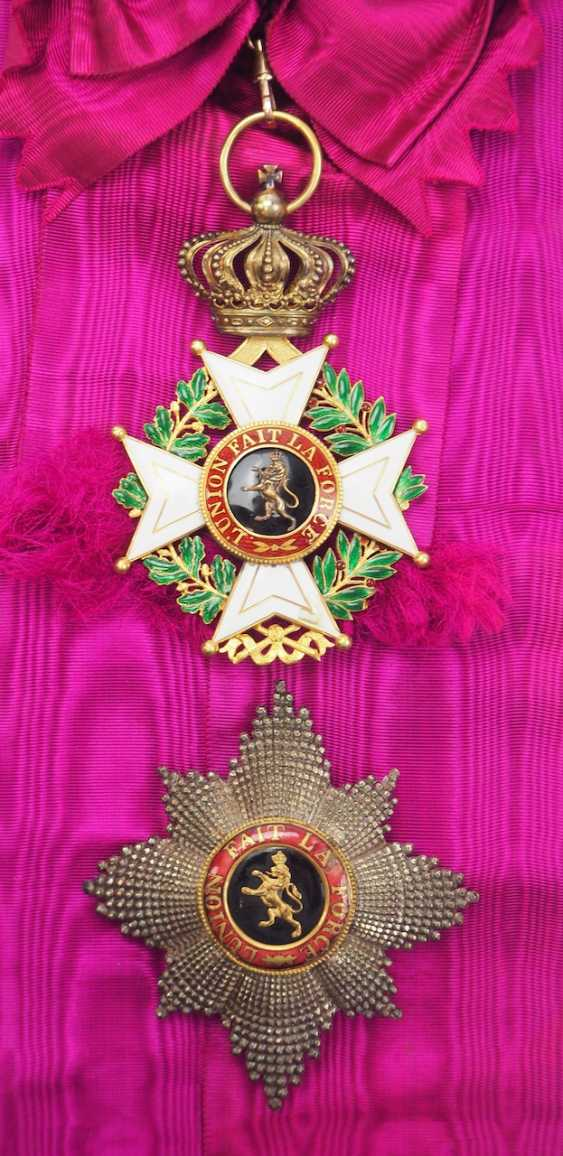 Belgium: Leopold Order, 2nd model (1839-1951), grand cross set. - photo 1