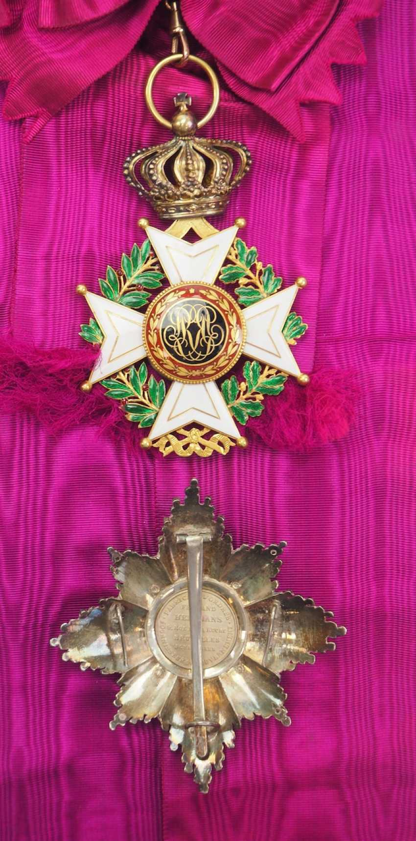 Belgium: Leopold Order, 2nd model (1839-1951), grand cross set. - photo 4