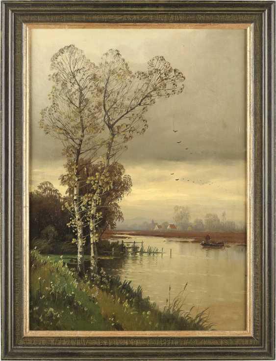 KARL HEFFNER 1849 Würzburg - 1925 Berlin Birke am Fluss - photo 2