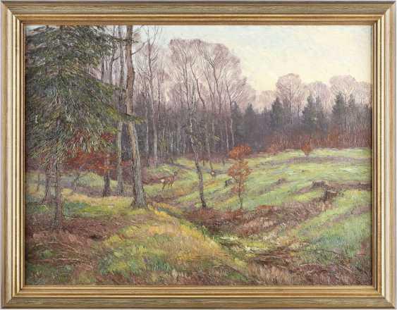 MAXIMILIAN KLEIN VON DIEPOLD 1873 Kassel - 1949 Dorndorf Rehe auf grüner Waldlichtung - photo 2