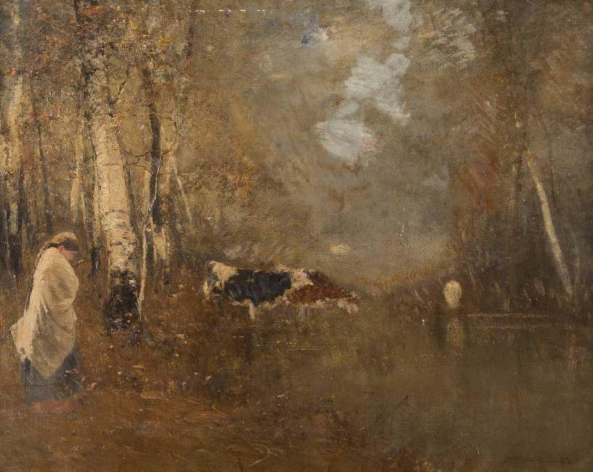 BELA VON SPANYI ('ADALBERT VON SPANYI') 1852 - 1914 Watering - photo 1