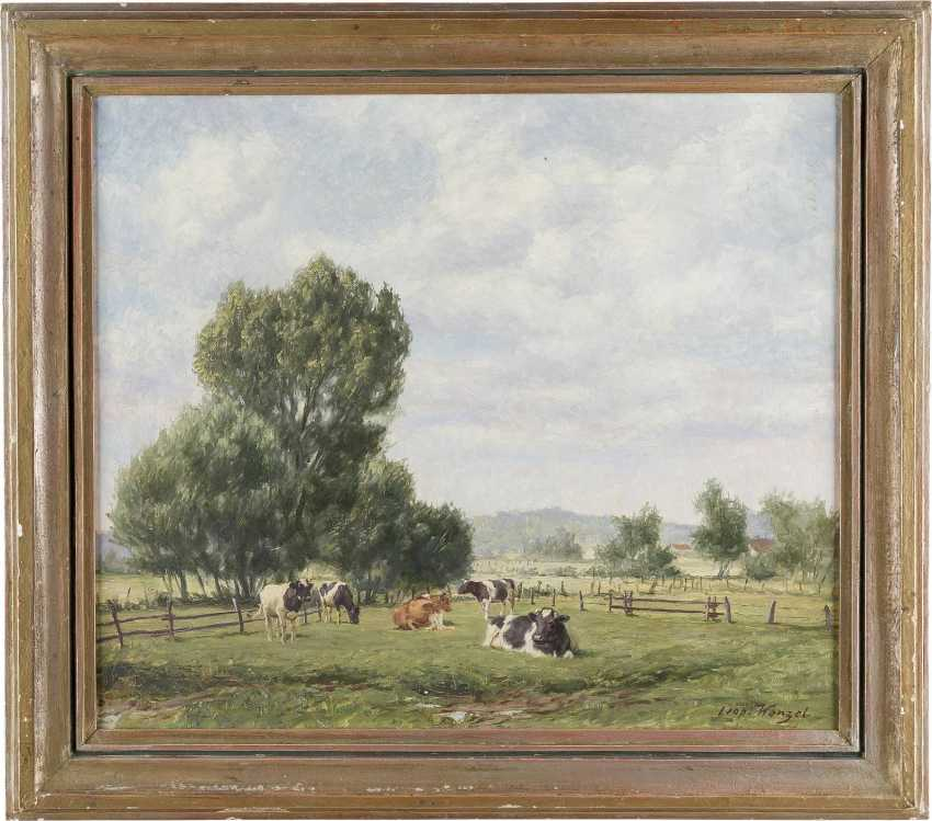 LEOPOLD WENZEL tätig 1. Hälfte 20. Jahrhundert LANDSCHAFT MIT WEIDEVIEH - photo 2