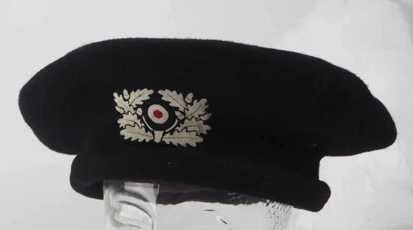 Wehrmacht: protective cap for tank crews, 1st type. - photo 1