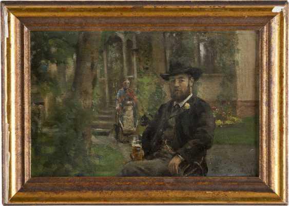 HANS OLAF HEYERDAHL 1857 Smedjebacken - 1913 Kristiana Im Biergarten - Foto 2