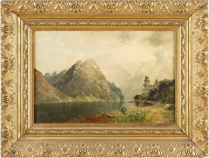 GEORG ANTON RASMUSSEN 1842 Stavangen - 1914 Berlin Sommerliche Fjordlandschaft - photo 2