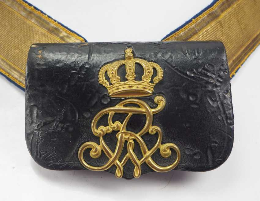 Prussia: cartridge case, with bandolier, for officers. - photo 1