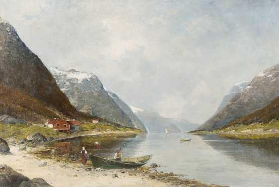 KARL KAUFMANN 1843 Neuplachowitz - 1905 Wien Fjordlandschaft - photo 1