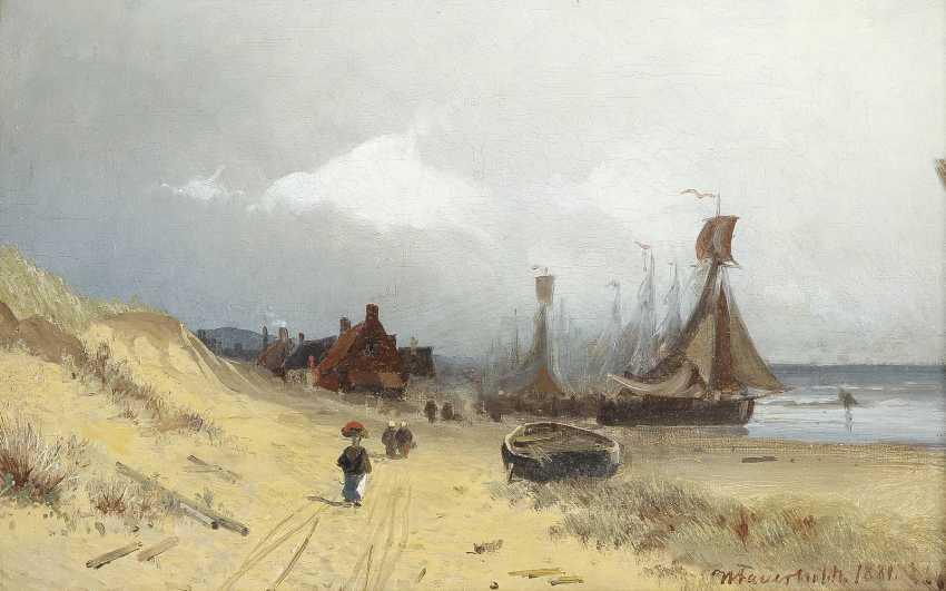 VIGGO FAUERHOLDT 1832 Kopenhagen - 1883 Düsseldorf Dänische Küste - photo 1
