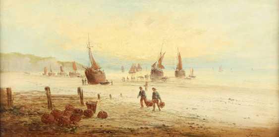 LOUIS GABRIEL EUGÈNE ISABEY (ATTR.) 1803 Paris - 1886 ebenda Ankunft der Fischerboote - photo 1