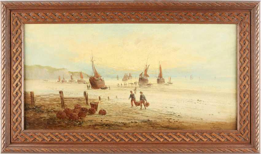 LOUIS GABRIEL EUGÈNE ISABEY (ATTR.) 1803 Paris - 1886 ebenda Ankunft der Fischerboote - photo 2