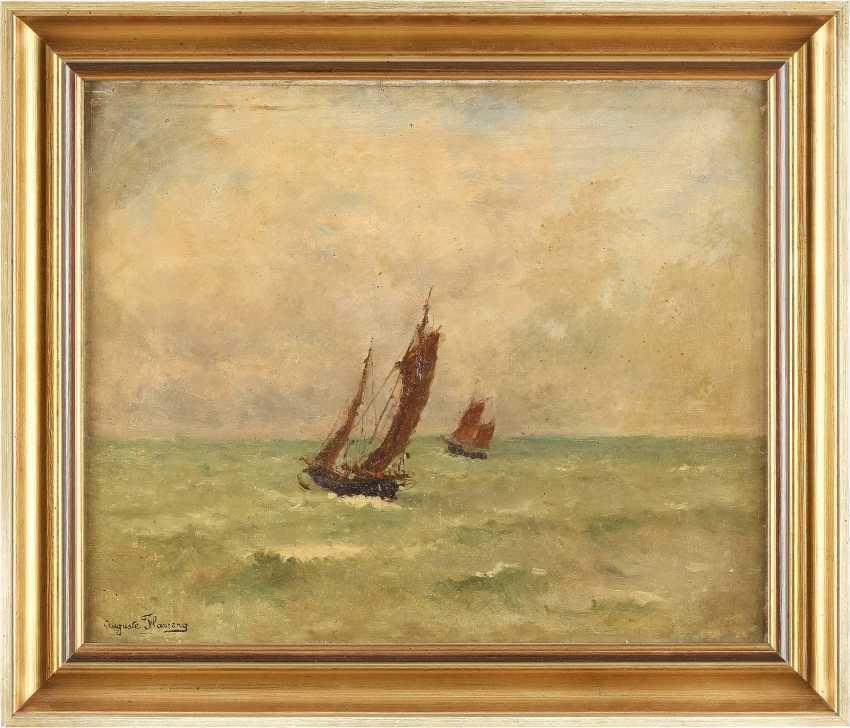 MARIE AUGUSTE FLAMENG 1843 - 1893 Segelboote auf offenem Meer - photo 2