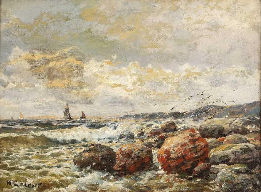 H GOLDACK Tätig 1. Hälfte 20. Jahrhundert Steinige Küste - photo 1