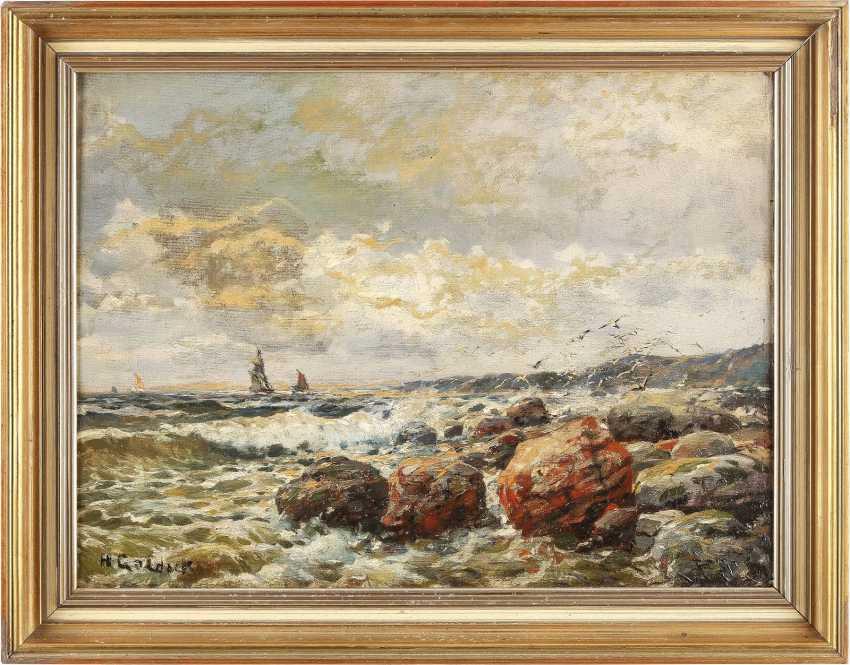 H GOLDACK Tätig 1. Hälfte 20. Jahrhundert Steinige Küste - photo 2