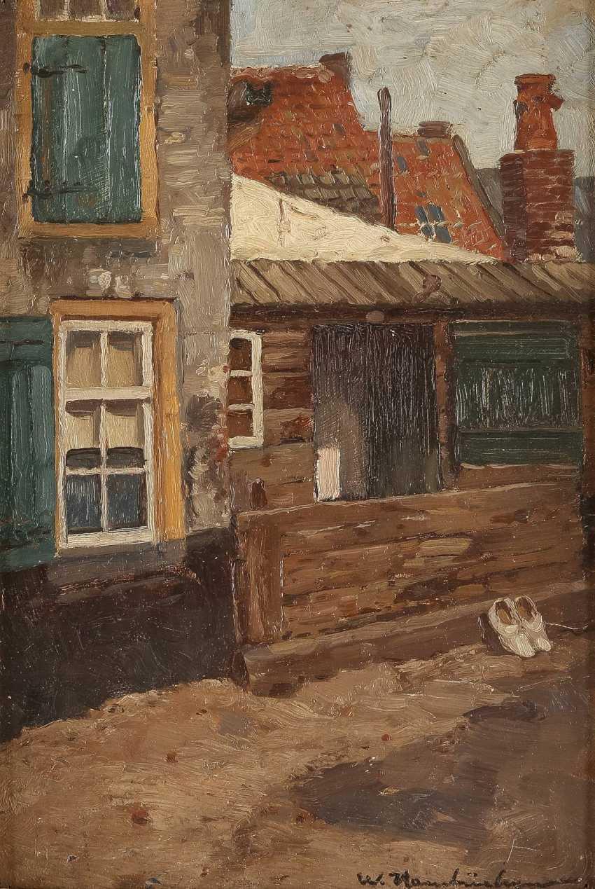 WILHELM HAMBÜCHEN 1869 Düsseldorf - 1939 ebenda Wohnhaus mit kleinem Schuppen - photo 1