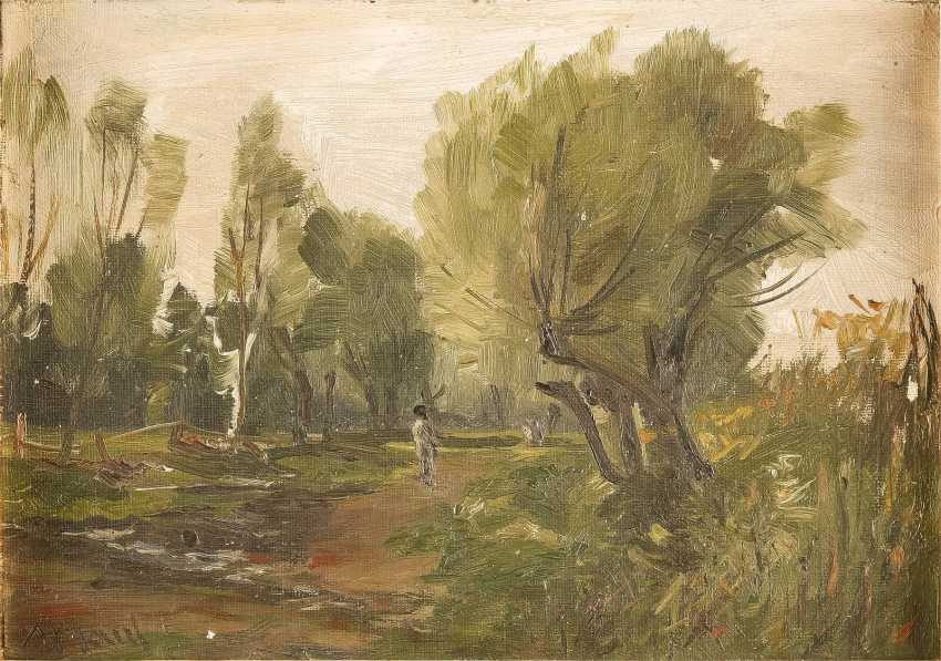 M. MAUL (?) Tätig 2. Hälfte 19. Jahrhundert Waldlandschaft - photo 1