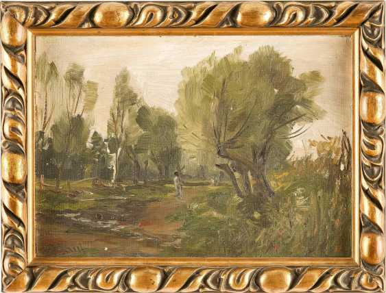 M. MAUL (?) Tätig 2. Hälfte 19. Jahrhundert Waldlandschaft - photo 2