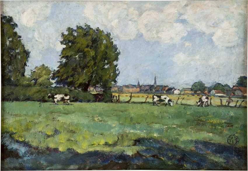 DEUTSCHER LANDSCHAFTSMALER Tätig um 1920 Weide im Sommer - photo 1